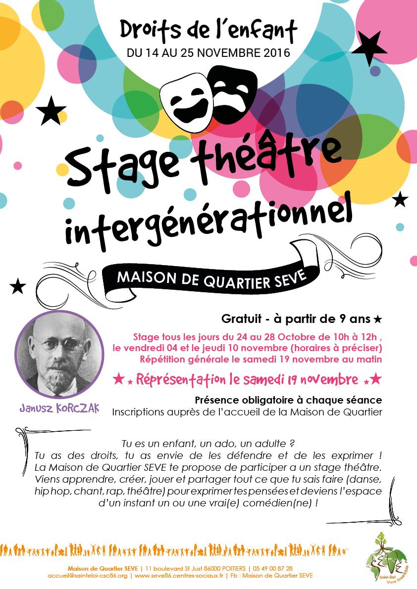 Stage théâtre intergénérationnel